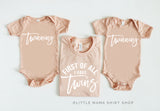 First of All I Have Twins & 2 Twinning Baby Bodsuits (Set of 3)