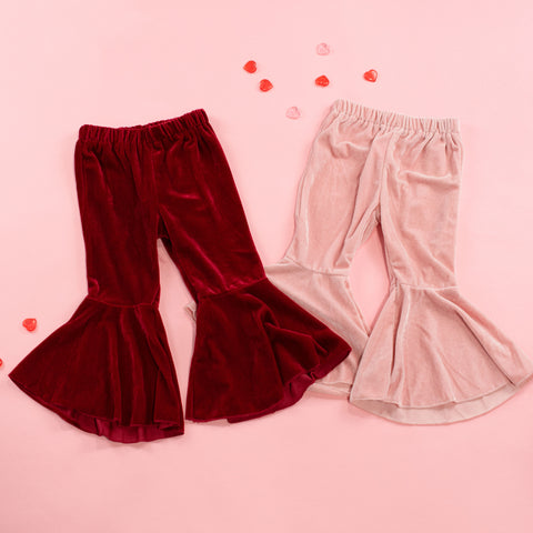 Velvet Bell Bottoms - Infant and Child Sizes