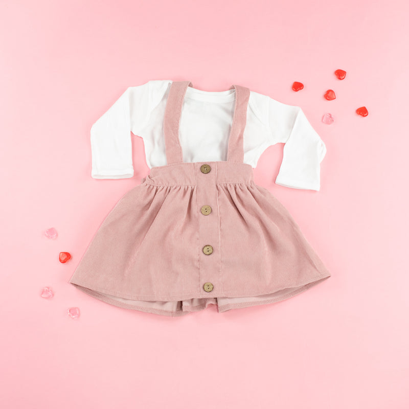 Corduroy Suspender Skirt - Infant and Child Sizes