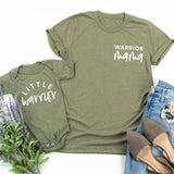 Warrior Mama & Little Warrior | Set of 2 Shirts (White)