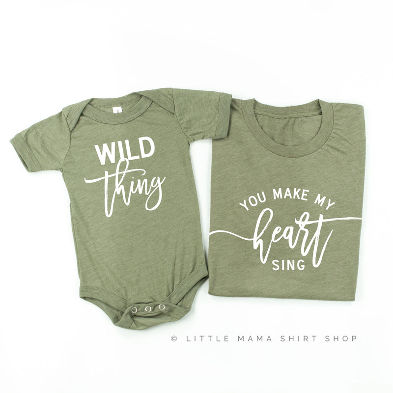Wild Thing You Make My Heart Sing | Set of 2 Tees