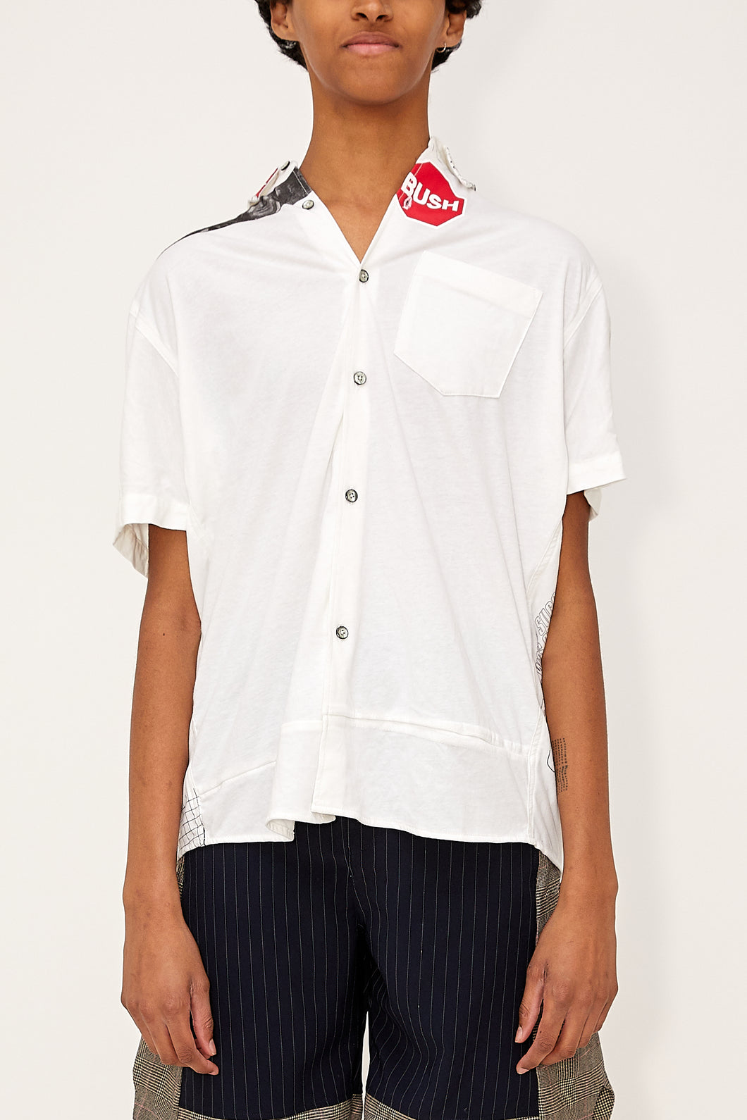 Bstroy x HommeBoy Reconstructed Button Up (White)