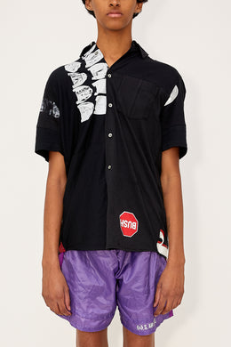 Bstroy x HommeBoy Reconstructed Button Up (Black)