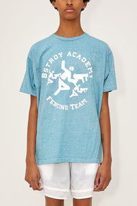 Heather Fencing Tee (Blue)