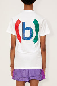 Gradient Fencing Tee (White/Red/Green)