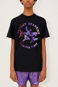 Gradient Fencing Tee (Black/Purple/Pink)