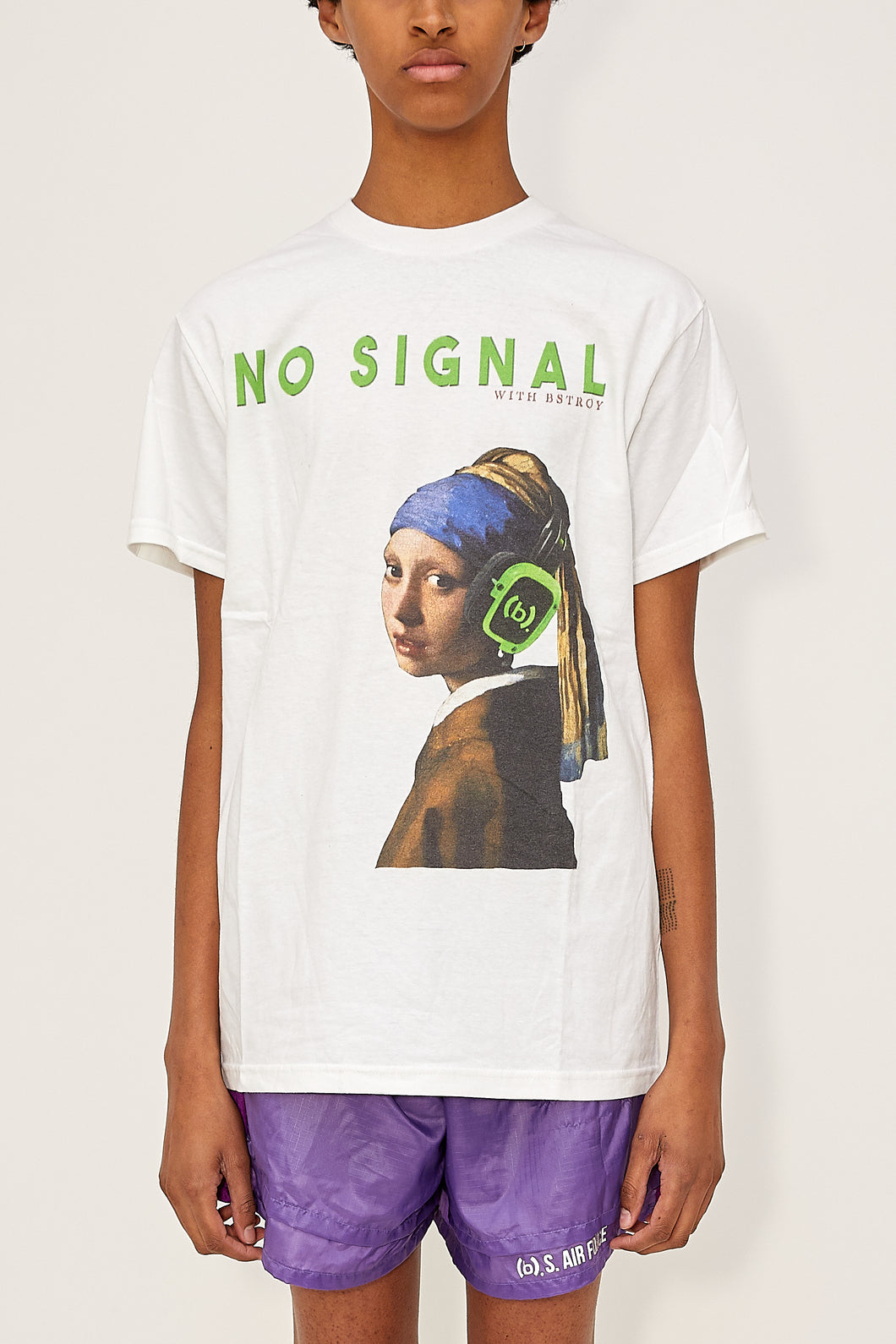 Bstroy x No Signal Headphone Tee (White)