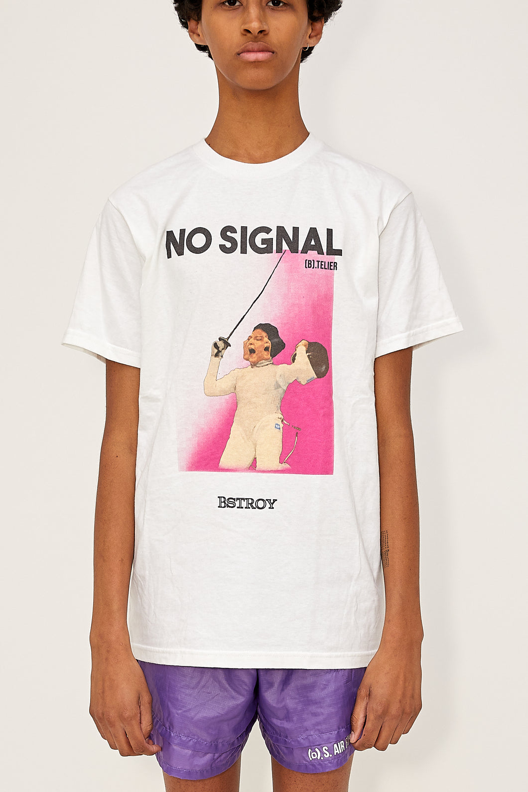 Bstroy x No Signal Mask Off Tee (White)