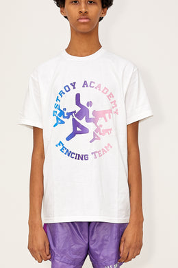 Gradient Fencing Tee (White/Blue/Pink)