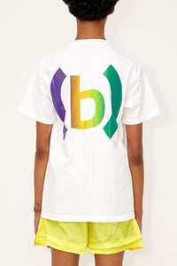 Gradient Fencing Tee (White/Purple/Green)