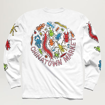 Chinatown Market Bugs L/S Tee (White)
