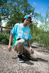 NewYakCity Washington's Finest S/S Tee (Sky Blue/Green Tie-Dye)