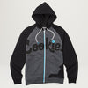 Cookies SF ERRY'BODY EATS Pieced Colorblocked Zip Hoody (Charcoal/Black)