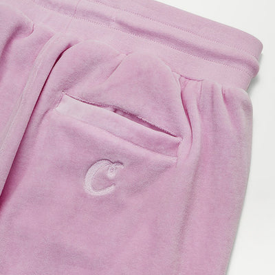 Cookies SF X Dipset Embossed Logo Velour Sweatpants (Pink)