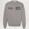 NYC Athletics Crewneck (Concrete) PRESALE