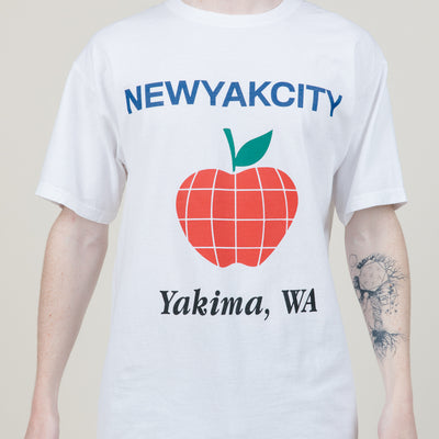 NYC Apple Capital S/S Heavyweight Tee (White)