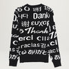 Chinatown Market Multi Language Jacquard Knit Sweatshirt (Black)