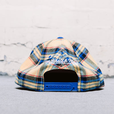 Mitchell & Ness Plaid Snapback (Warriors)