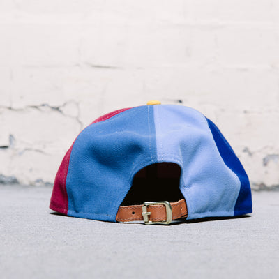 Black Scale Color Block Strapback (Red)