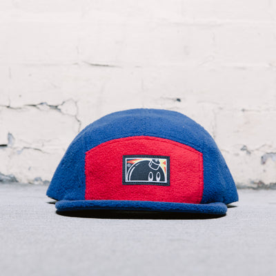 The Hundreds Frio 5 Panel Hat (Red/Blue)