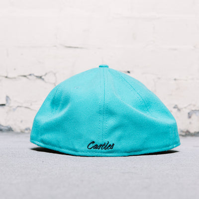 Crooks and Castles Baseball Script Fitted (Teal)