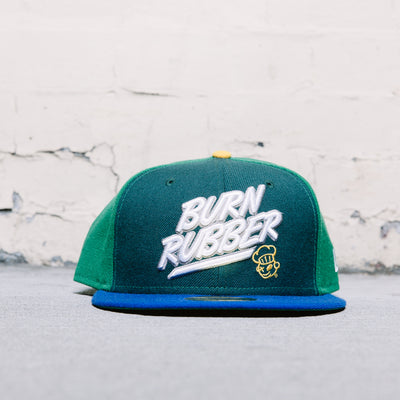 Burn Rubber New Era Fitted (Lemon-Lime)