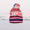Lib Tech Lib-Chin Pom Beanie (Red/Blue)
