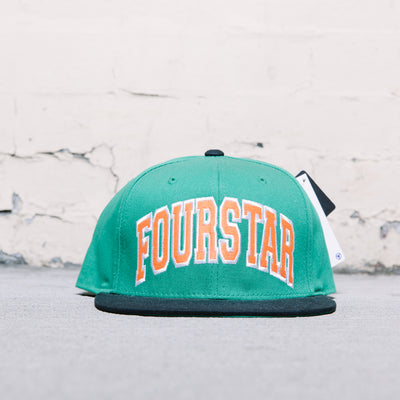 Fourstar Arched Starter Snapback (Green)