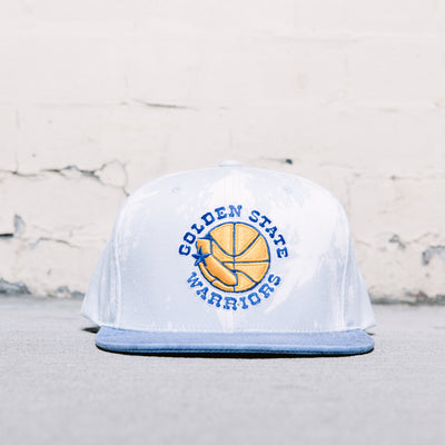 Mitchell & Ness Paint Splatter Snapback (Warriors)
