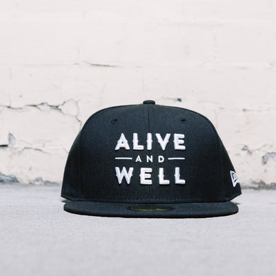 Alive & Well Fitted Cap (Black)