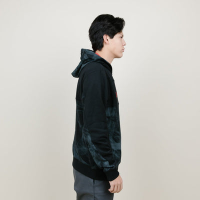 Cookies SF Black Smoke Pieced French Terry Pullover Hoodie (Black)