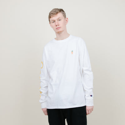 Carrots Chamomile LS Tee (White/Gold)