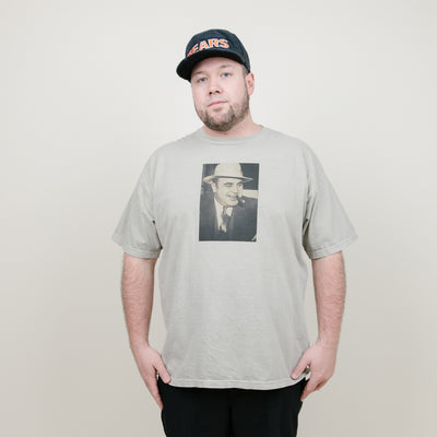 The Roaring 20's Al Capone & Cigars Tee (Olive)