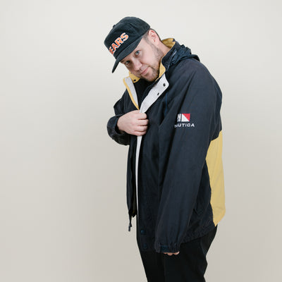 Vintage Nautica Jacket (Navy/Yellow)