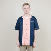 Stussy Middle Block Bowling Shirt (Navy)
