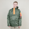 Alpha Industries Seafarer Jacket (Sage/Emergency Orange)