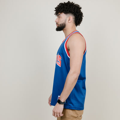 Vintage Champion Detroit Pistons Jersey (Red/Blue)
