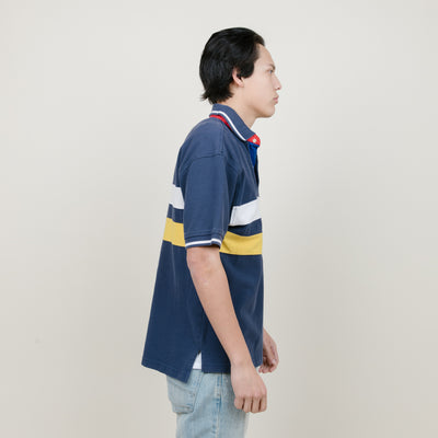Vintage Tommy Hilfiger Polo S/S (Navy/Yellow)