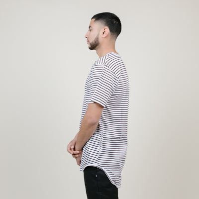 EPTM Stripe Long Tee (Brown/White)