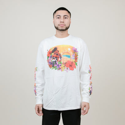 Stussy Hellshire Pig. Dyed L/S Tee (Natural)