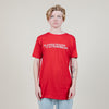 The Road Is Life Planes, Trains & Automobiles Tee (Red)