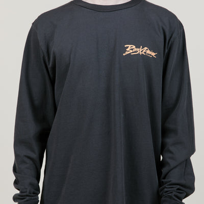 Born X Raised Being Watched L/S Tee (Black)