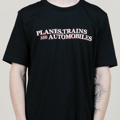 The Road Is Life Planes, Trains & Automobiles Tee (Black)