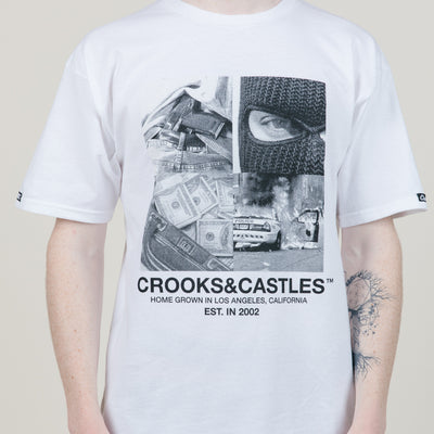 Crooks & Castles Home Grown Tee (White)