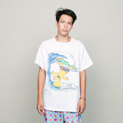 Vintage Bart Simpson Surfing Tee (White)