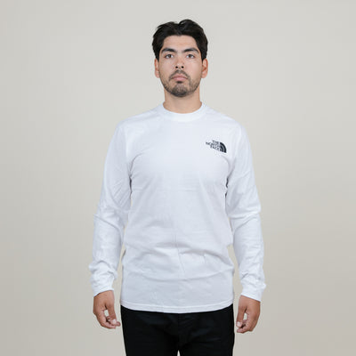 The North Face Red Box L/S Tee (White)