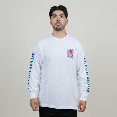 Never Made Rising Sun L/S Tee (White)