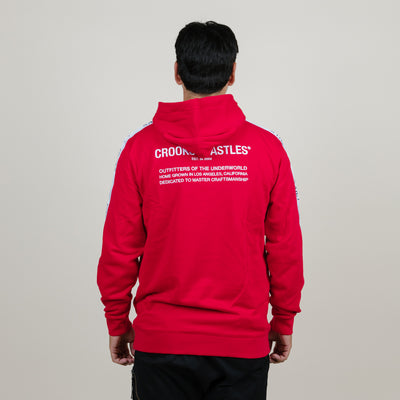 Crooks & Castles CRKS Taped Hoodie (Red)