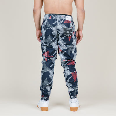 Publish Johan Floral Poplin Pants (Navy)