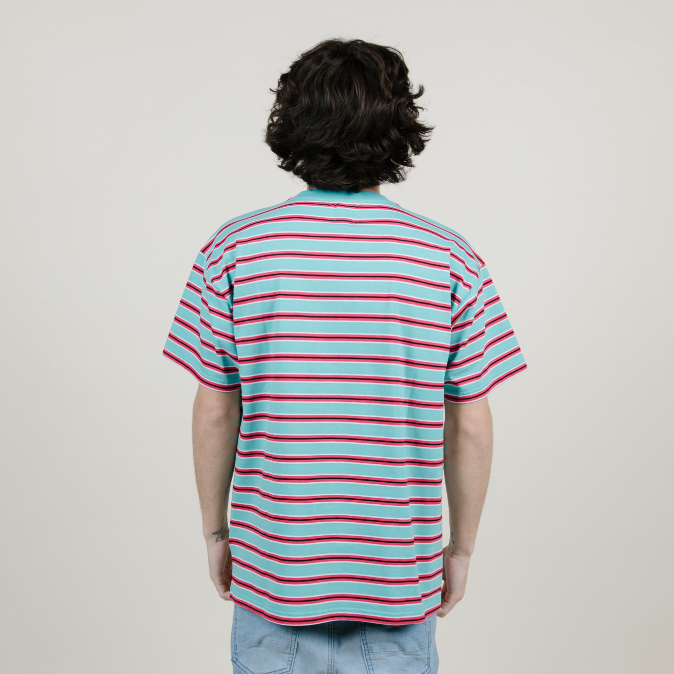 4f35876d Polar Striped Pocket Tee (Mint/Coral Red) - NewYakCity